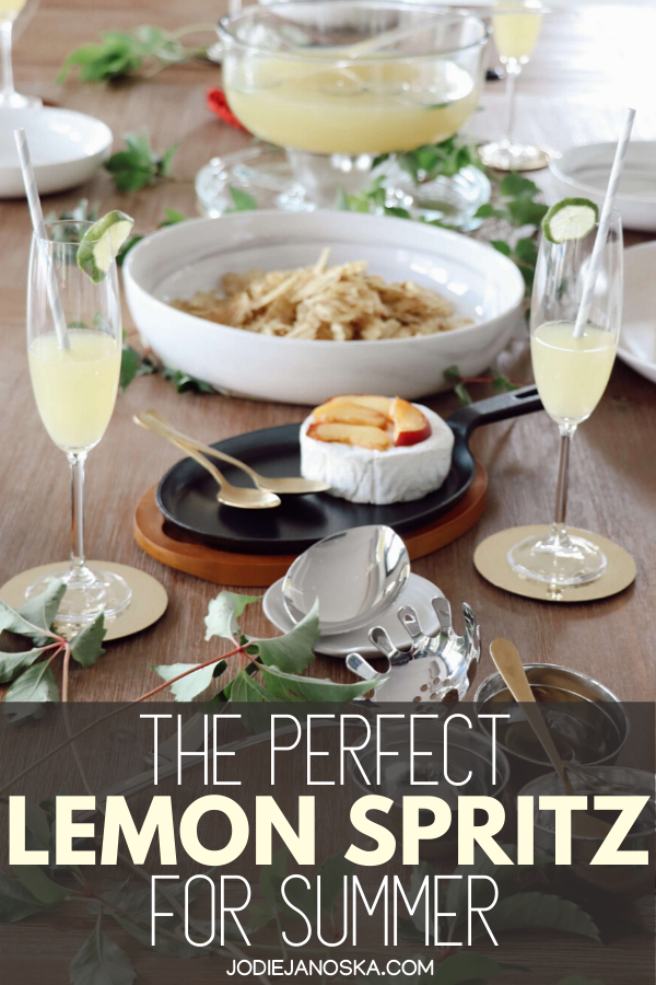 Click here for a delicious lemon spritz recipe perfect for your summer dinner party or summer luncheon plus summer party inspiration. #lemonspritz #summerparty #dinnerinspiration   lemon spritz cocktail   summer dinner party menu ideas   summer dinner party recipes   summer dinner party inspiration   summer luncheon menu ideas   summer luncheon drink ideas   summer dinner drink ideas   summer luncheon inspiration   summer drinks for ladies luncheon   summer dinner drinks